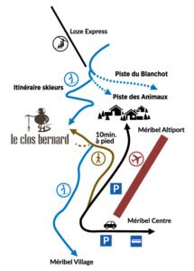 Plan d'accès au restaurant Le Clos Bernard
